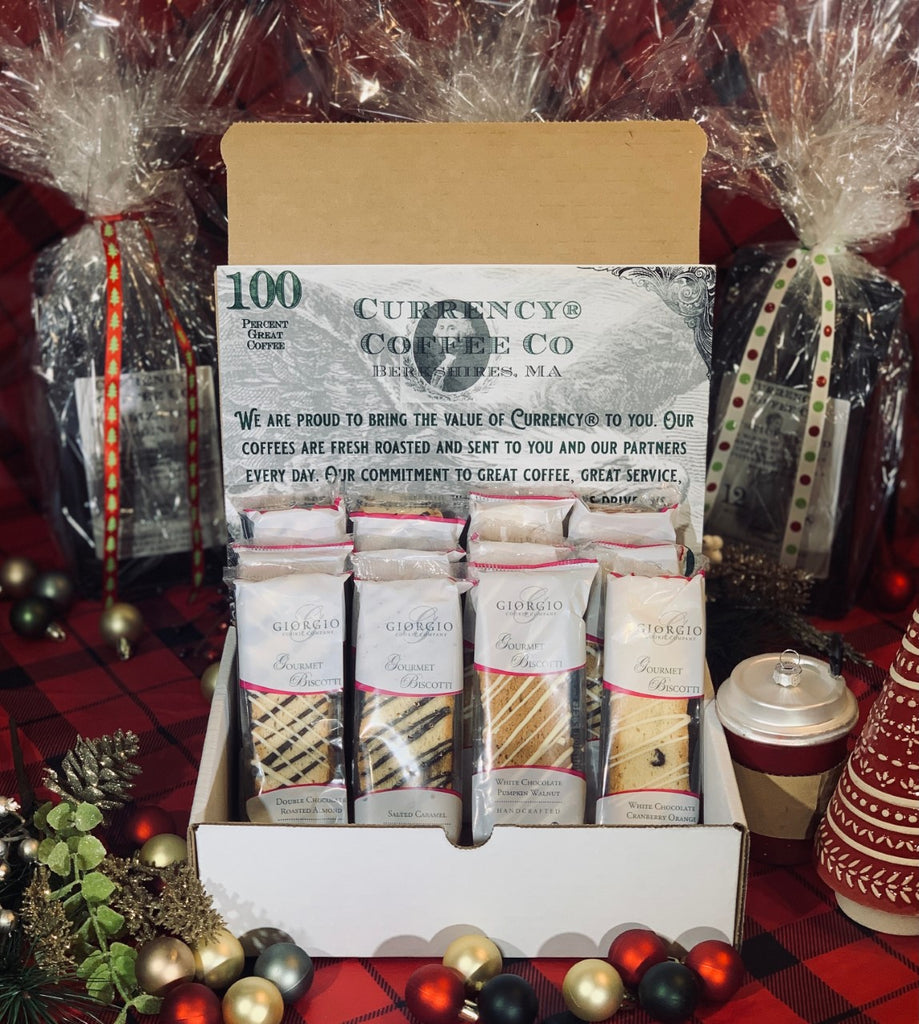 Holiday Gift Set: Assorted Gourmet Biscotti - set of 6 or 12