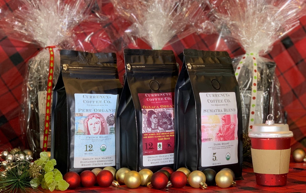 Holiday Gift Set: 3 x 12oz Organic Bags of Coffee