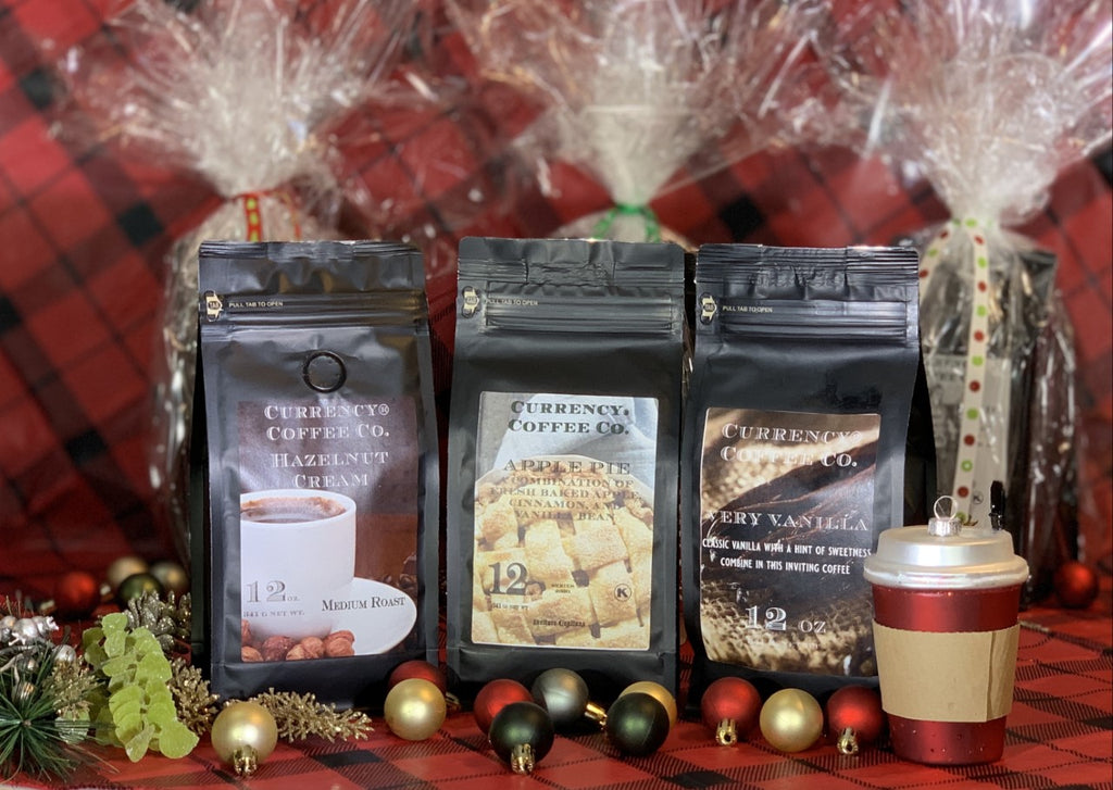 Holiday Gift Set: 3 x 12oz Bags of Flavored Coffee