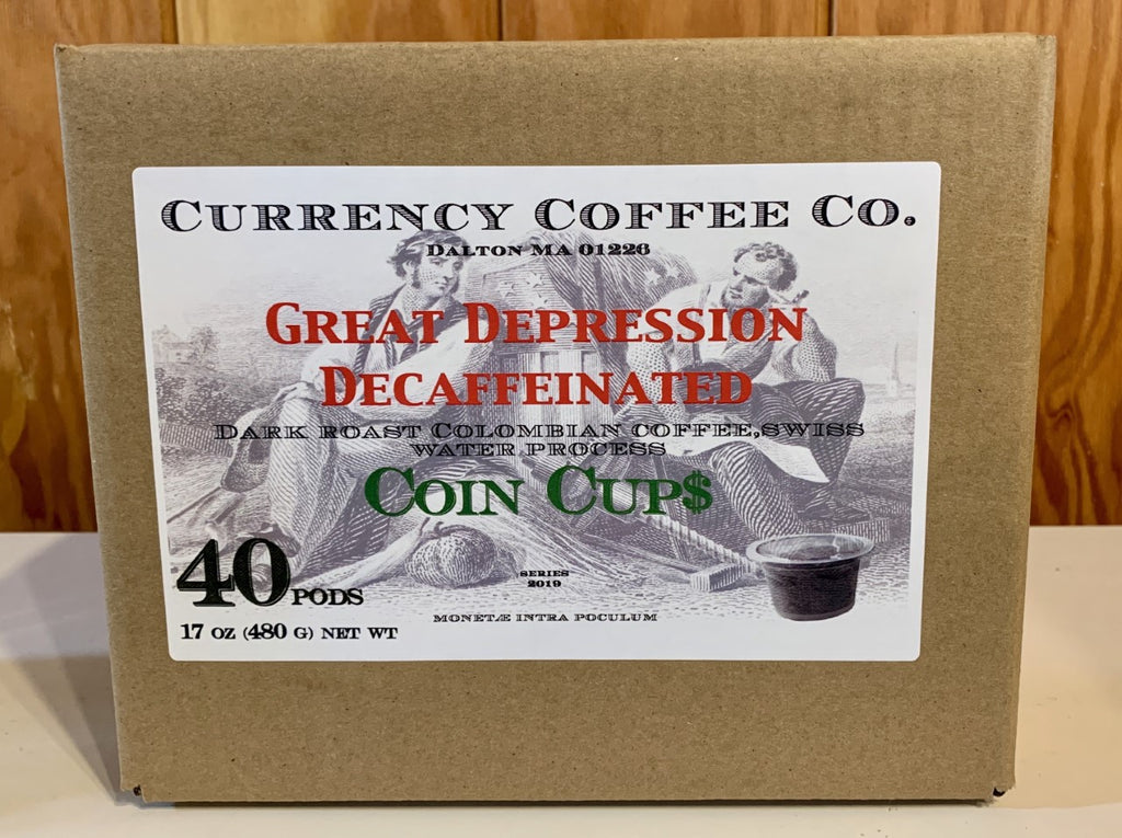 Currency® Coffee Great Depression Decaffeinated Pods 40-count