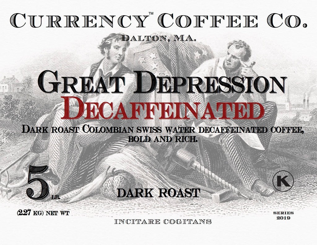 Currency® Coffee Great Depression Decaffeinated