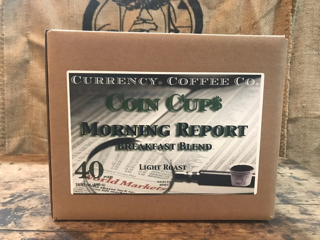 Currency® Coffee Morning Report Pods 40-count