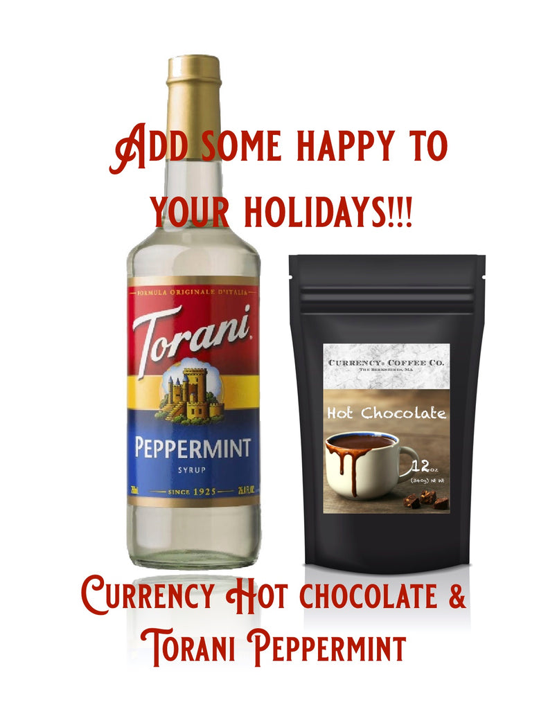 Holiday Gift Set: Hot Chocolate 12oz + Peppermint Torani