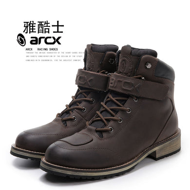 Fashion ARCX Real Leather Motorcycle Boots Warm Waterproof Leisure Shoescasual Motos Boats Motorbike Touring Boots For Harley