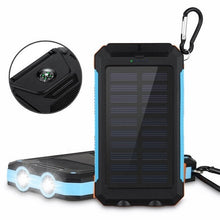 Load image into Gallery viewer, Solar Power Bank Real 20000 mAh Dual USB External Waterproof Polymer Battery Charger Outdoor Light Lamp