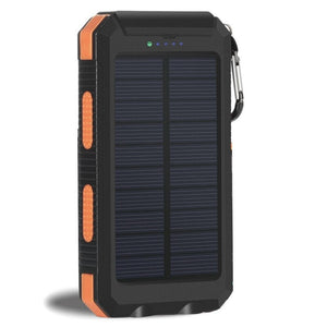 Solar Power Bank Real 20000 mAh Dual USB External Waterproof Polymer Battery Charger Outdoor Light Lamp