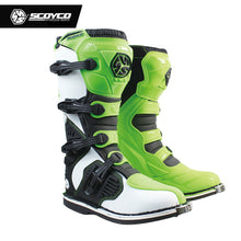 Load image into Gallery viewer, SCOYCO MBM001 Off-road racing boots motorcycle boots Motocross Motorbike riding long knee high Shoes heavy protective gear