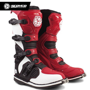 SCOYCO MBM001 Off-road racing boots motorcycle boots Motocross Motorbike riding long knee high Shoes heavy protective gear