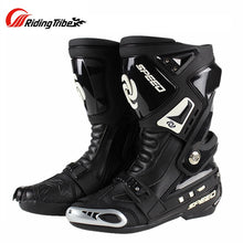 Load image into Gallery viewer, Riding Tribe Long  Motorcycle Boots Microfiber Leather Waterproof Men Racing Motocross Riding Shoes Motorbike Boots Botas Moto