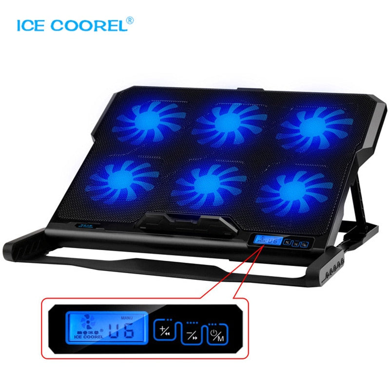 Laptop cooler 2 USB Ports and Six cooling Fan pad for 12-15.6 inch