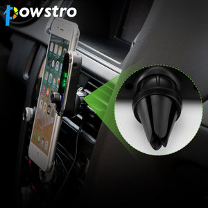 POWSTRO 3 in 1 Car Vent Phone Holder FM Transmitter Charger Bluetooth Car Kit Transmitter MP3 Player Modulator Support TF Card