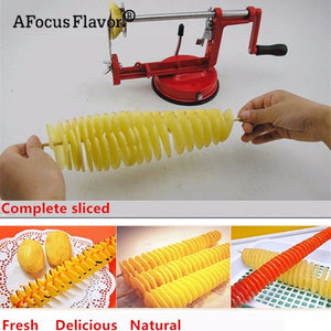 1 Pc Potato Twister Potato Slicer Stainless Steel Cutter make delicious Spiral Chips