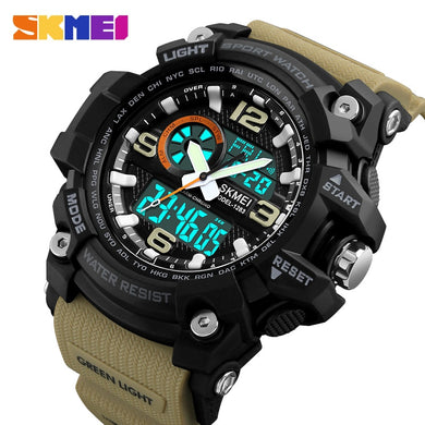 SKMEI Fashion Sports Multifunction Outdoor Men's Watches Dual Display Digital Quartz Chronograph Wristwatches Relogio Masculino