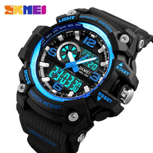 Load image into Gallery viewer, SKMEI Fashion Sports Multifunction Outdoor Men's Watches Dual Display Digital Quartz Chronograph Wristwatches Relogio Masculino