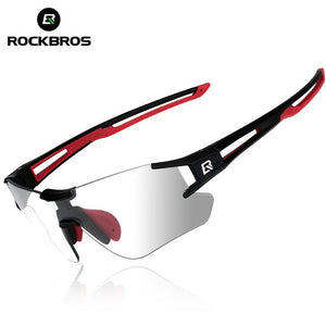 ROCKBROS Photochromic Cycling Bicycle Sunglasses Running Camping Hiking Glasses Sports Men Eyewear UV400 Sun Glasses Goggles