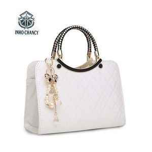Luxury simple shells leather handbag
