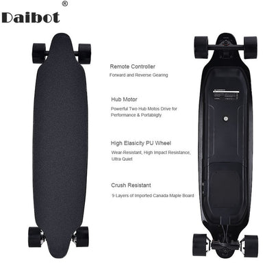Electric Scooter For Adults 4 Wheel Electric Scooters 40KM/H Dual Hub Motor Remote Longboard Electric Skateboard