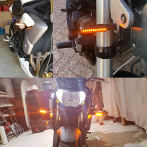 2018 newest 4x Universal flowing water flicker led motorcycle turn signal Indicators Blinkers Flexible Bendable Amber light lamp