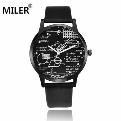 New Watches Men Fashion Quartz Men's Watch Leather Strap Relojes Needle Length Watches classic number style masculine wristwatch