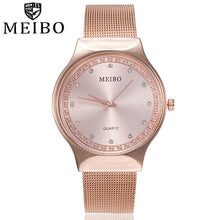 Load image into Gallery viewer, MEIBO Women's Watches Ladies Casual Quartz Stainless Steel New St rap Watch Analog Wrist Watch Female Clock relogio feminino A2