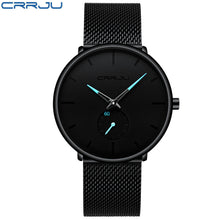 Load image into Gallery viewer, Crrju Top Brand Luxury Watches Men Stainless Steel Ultra Thin Watches Men Classic Quartz Men's Wrist Watch Relogio Masculino