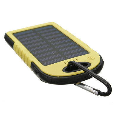 Waterproof Solar Power Bank Real 20000 mAh Dual USB External Polymer Battery Charger Outdoor Light Lamp Powerbank