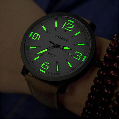 2018 Luminous PU Leather Men's Watches Luxury Men Military Quartz Army Wrist Watch Relogios Glow in Dark