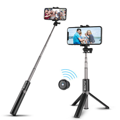 Extendable Selfie Stick Tripod for 2.2-3.42inch Phones with Bluetooth Shutter