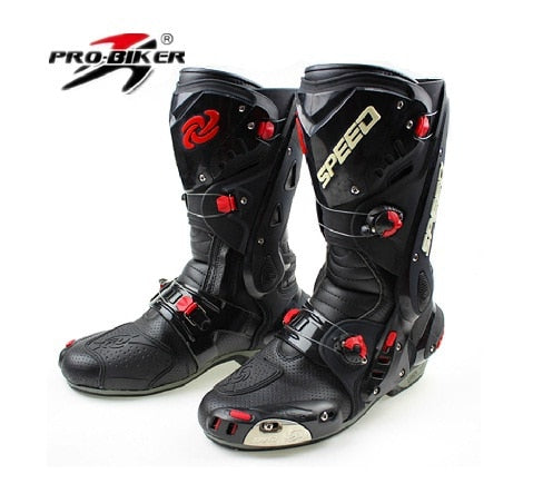 Riding Tribe Men's Motorcycle Boots Waterproof Speed Motorbike Shoes Motocross Tall Boot Dirt bike ADV Sport Touring Boots Shoes