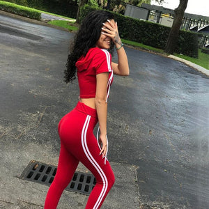 Women Yoga Hooded Top+Sports Pants Sport Suit Yoga Set Running Fitness Training Suit Running Clothing Sportswear For Women