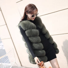 Load image into Gallery viewer, Autumn Winter Faux Fur Coat Women Fashion Korean Elegant Sleeveless Long Vest Woman Casual Slim Luxury Thick Warm Fur Jacket