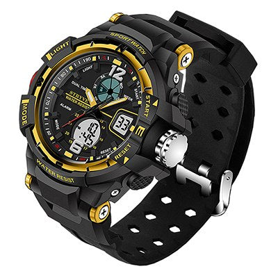 Stryve 8012 Luxury Brand Sports Men Watch Waterproof Quartz Led Electronic Men's Military Watch Digital Clock erkek kol saati