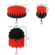 Load image into Gallery viewer, 3pcs Power Scrubber Brush Set For Bathroom Drill Scrubber Brush For Cleaning Cordless Drill