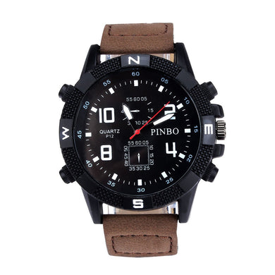 OTOKY 2018 Luxury Outdoor Men's Canvas strap Large Dial Military Sport Quartz Wrist Watch Business Gift watches MAY14 D33
