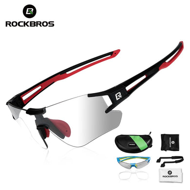 ROCKBROS Photochromic Cycling Glasses Bicycle Glasses Sports Men's Sunglasses MTB Road Bike Eyewear Protection Goggles 3 Colors
