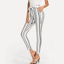 Load image into Gallery viewer, SHEIN Vertical Striped Skinny Pants
