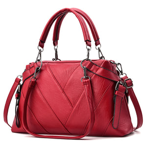 Ladies Handbag Large Capacity Luxury Soft Pu Leather