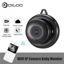 Load image into Gallery viewer, DIGOO DG-MYQ 2.1mm Lens 720P  Wireless Mini WIFI Night Vision Smart Home Security IP Camera Onvif Monitor Baby Monitor