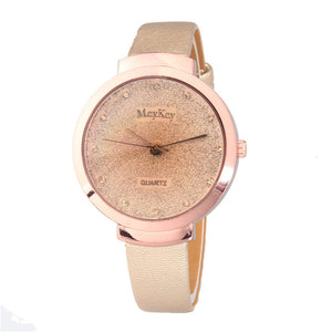 2018 Fashion Full Crystal Leather Watch Women Ladies Dress Quartz Wrist Watches Clock Relogio Feminino