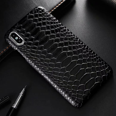 Snake Skin Leather Phone Case for iphone XS Max X XR 8 7 6 6s Plus Luxury PU Leather Shockproof Back Cover for iphone X 7 Case