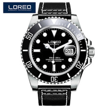 Load image into Gallery viewer, LOREO Mens Watches Top Brand Luxury Business Automatic Mechanical Watch Men Sport Submariner Waterproof 200M Steel Clock 2018
