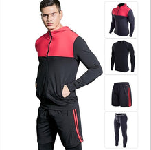 Load image into Gallery viewer, 4PCS Sport Suit Men Men's Gym Training Fitness Sportswear  Athletic Workout Clothes Suits Running Jogging Mens Sports Clothing
