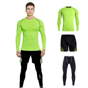 4PCS Sport Suit Men Men's Gym Training Fitness Sportswear  Athletic Workout Clothes Suits Running Jogging Mens Sports Clothing