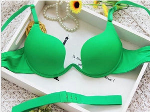 Japanese Style Deep V Push Up Bra Strapless Underwire