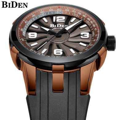 BIDEN Top Brand Luxury Quartz Watch Men Waterproof Silicone strap Military Wristwatch For Man Clock Creative Men Watch 2018
