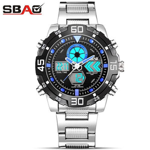 2018 Fashion Watches Men Luxury Brand Amuda Gold Golden Sports Quartz-watch Dual Time Double Display Relogio Masculino Esportivo