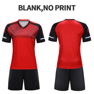 Adult Soccer Uniforms Survetement Football Jerseys 2019 For Girls Polyester Team Training Jersey Quick Dry Sportswear Customized