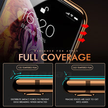 Load image into Gallery viewer, 15D Protective Glass on the For iPhone 6 6s 7 8 plus XR X XS glass full cover iPhone Xs Max Screen Protector Tempered Glass