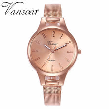 Load image into Gallery viewer, Vansvar Brand Women Mesh Arabic Numbers Watch Fashion Casual Ladies Stainless Steel Quartz Watches Clock Relogio Feminino