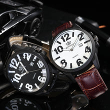 Load image into Gallery viewer, 2019 Hot Sale Fashion Luxury Quartz Watch Men Leather Band Analog Quartz Round Wrist Watch Mens Hours Clock dropshipping